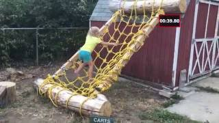 Dad Creates Ninja Warrior Course For Daughter