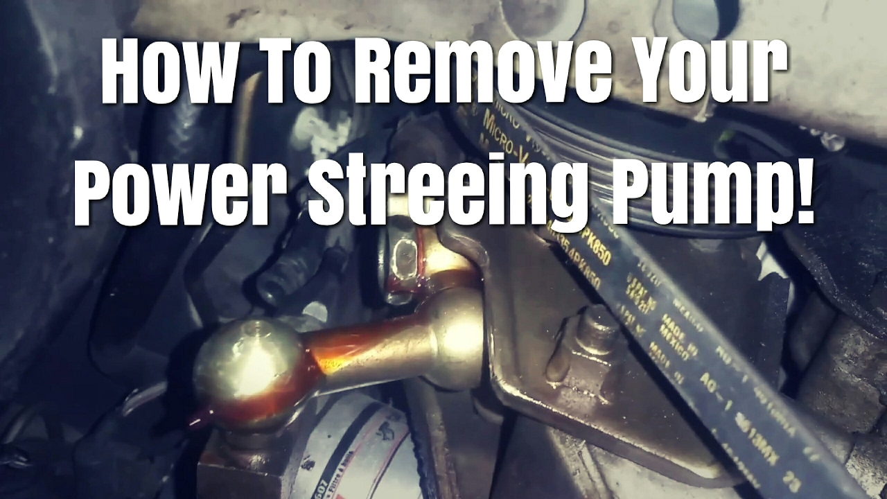 Here Is How To Remove A Steering Pump On Infiniti G20 Nissan Altima Sentra
