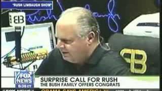 Rush Limbaugh gets supprise phone call