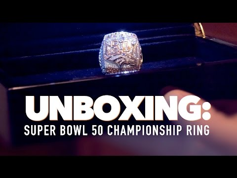 UNBOXING: Super Bowl 50 Ring - With Former Bronco, Tyler Polumbus
