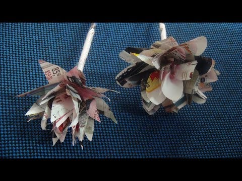 How To Make Recycled Paper Flowers - DIY