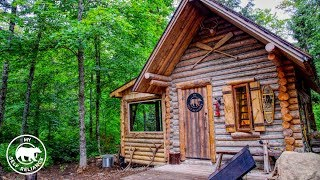 My Self Reliance Log Cabin Porch Build Using Hand Tools and an Alaskan Chainsaw Mill