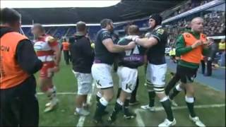 Big Rugby Fight! Double red card!
