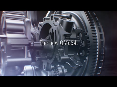 More economical and powerful, more lightweight and compact - the new OM 654 diesel engine