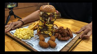 Beating the Randy Santel Burger Challenge at Bare Grill Sydney