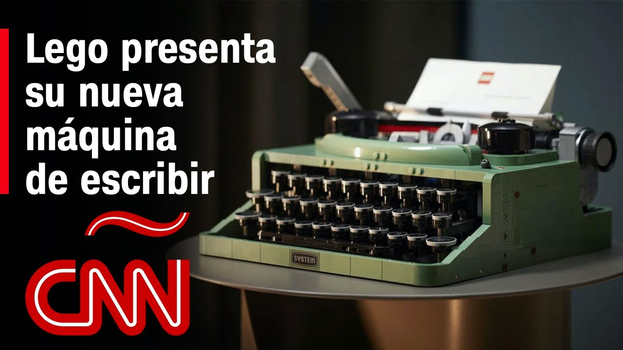 ¿Una máquina de escribir hecha de Legos? Sí, es real