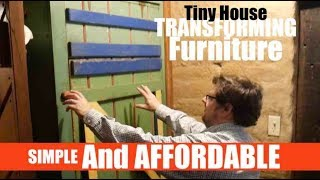 Tiny House Transforming Kitchen Table Into Storage - Simple!