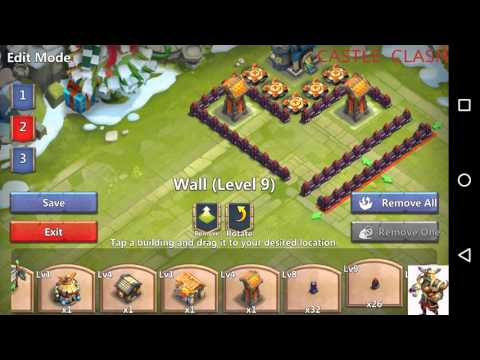 Best Level 11 Town Hall Base Design Castle Clash