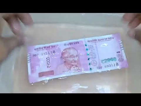 Currency notes put to water test 💦 #INDIAN#AMERICAN#MALAYSIAN