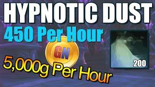 5,000g per hour spot WoD/WoW, INSANE Hypnotic Dust Farming Spot