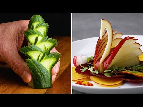 7 Knife Skills That Will Make You A Real Life Fruit Ninja! | Master Chef Tutorial Compilation