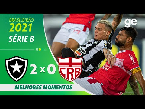 BOTAFOGO 2 X 0 CRB | MELHORES MOMENTOS | 29ª RODADA SÉRIE B 2021| ge.globo