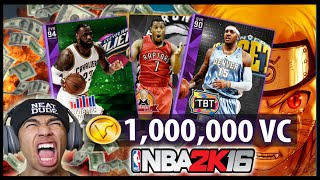 NBA 2K16 MyTeam - 1 MILLION VC TBT PACK OPENING! [Stream Highlight]
