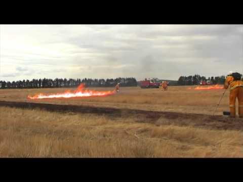 CSIRO and NSW RFS Grass Fire Experiments Dec 2015