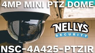 4MP PTZ Camera w/ Auto Tracking & 160' Night Vision, Hidden IR, 60 FPS Video, & Long-Range 25x Zoom