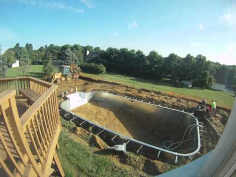 Pool construction time-lapse