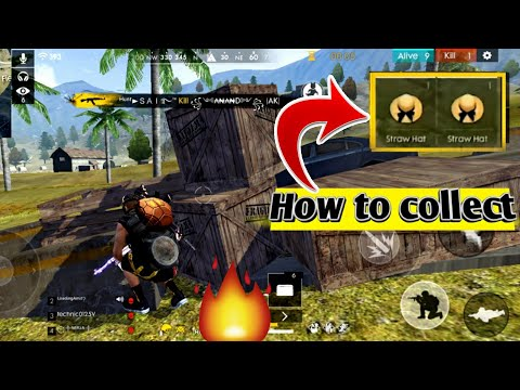 How to collect straw hat 🎩 in free fire | Collect Hat token |🔥 Free fire new update