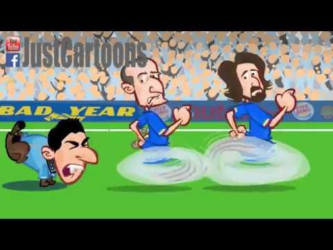 Cartoon summary of world cup 2014