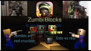 Minecraft Zumbi Blocks 3D mac-10 & Baseball Bat Modo Red Crucible Firestorm