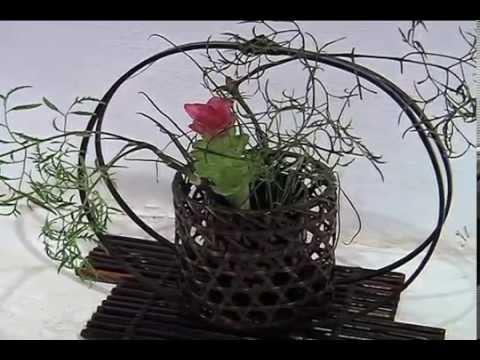 Perfumada Exposición Ikebana Arreglo Floral Japonés En El Centro Recreativo Xalapeño
