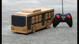 How to Make RC Bus from cardbord || low flower bus || DTC Bus