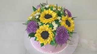 КАК можно УКРАСИТЬ ТОРТ 3 мя насадками Красивый торт