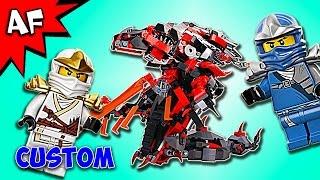 Custom Lego Ninjago VERMILLION DOOM Rebrick 70624+70626 Speed Build
