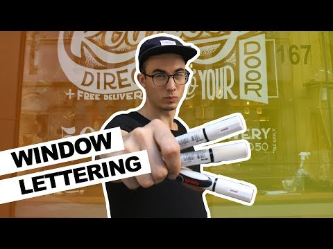 Large Scale Drawing - Window Lettering (How To)