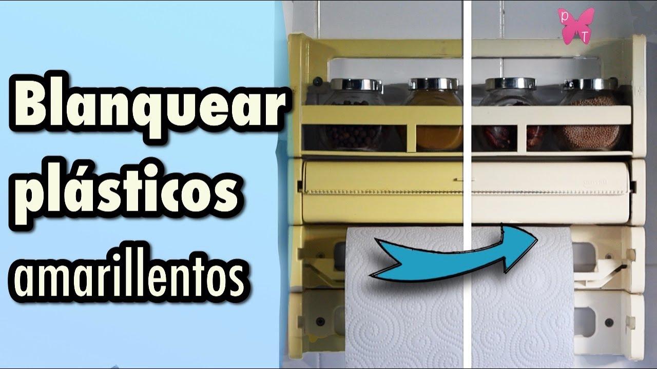 Cómo blanquear plásticos de electrodomésticos amarillentos