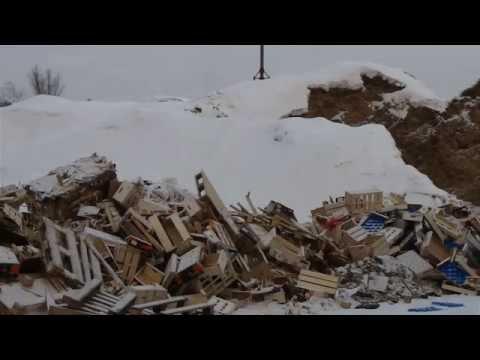 видео: Производство топливных брикетов из поддонов, ящиков