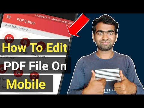How To Edit PDF File On Android | Edit PDF File In Mobile |