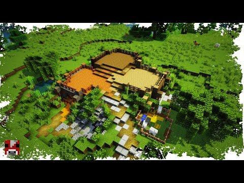 Minecraft Timelapse - 3 PLAYER MULTIPLAYER BASE - (World Download)