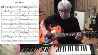 Blue Velvet - Jazz guitar & piano cover ( Bernie Wayne & Lee Morris )