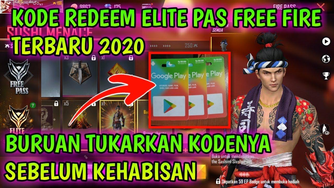 KODE REDEEM FREE FIRE TERBARU 2020 HARI INI || Bagi bagi kode redeem free fire terbaru 2020 hari ini