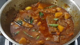 மணக்க மணக்க ருசியா சதை கருவாடு போட்டு கருவாட்டு குழம்பு/கருவாட்டு குழம்பு/Dry Fish Curry