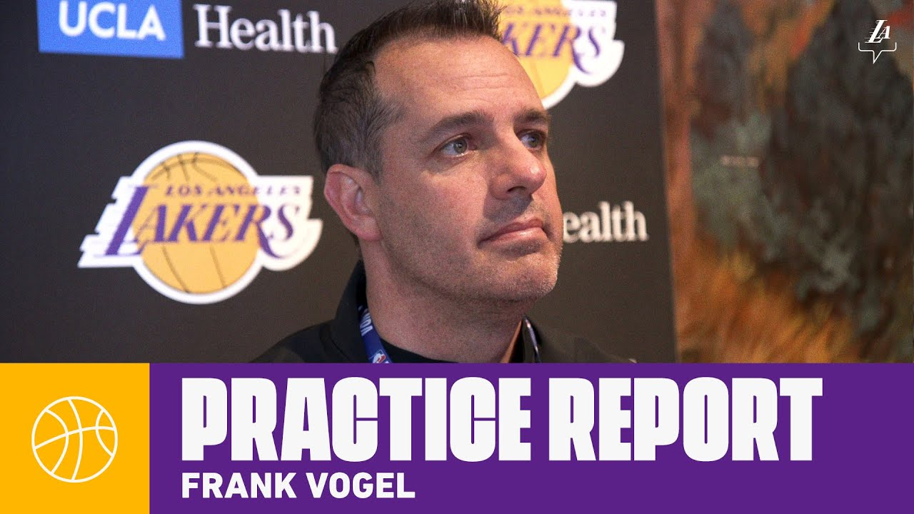 Frank Vogel gives an update on Rajon Rondo's injury, and the impact it will have | Lakers Practice