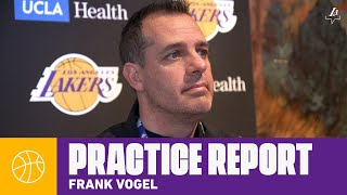 Frank Vogel gives an update on Rajon Rondo's injury, and the impact it will have   Lakers Practice