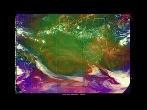3 Storm Force Low Pressure Systems in the S Atlantic & Indian Oceans on June 15, 2014
