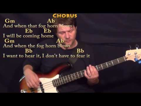 Into the Mystic (Van Morrison) Bass Guitar Cover Lesson in Eb with Chords/Lyrics