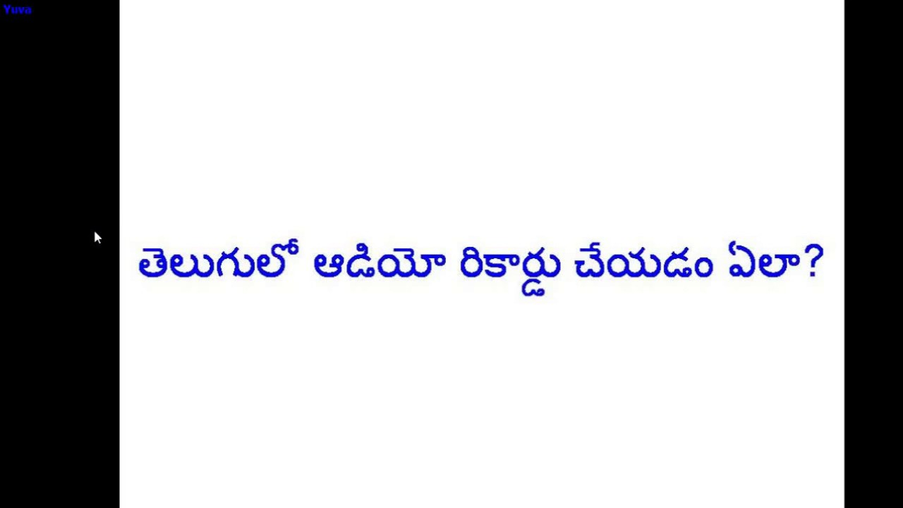 Telugu text to speech audio record online