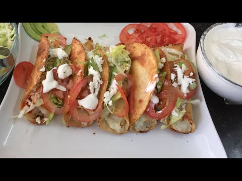 GOLDEN TACOS OF DELICIOUS PAPA RECIPE
