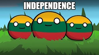 Lithuania, Happy Independence day (short story) - Countryballs