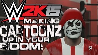 WWE 2K15 - How to Make CaRtOoNz up in your Room! (w/ 200k