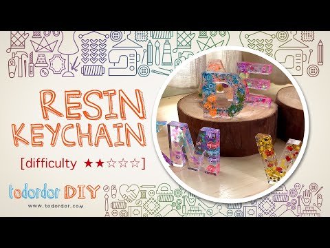 [DIY] How to make resin keychain | Resin tutorial | Resin keychain with name | Todordor DIY