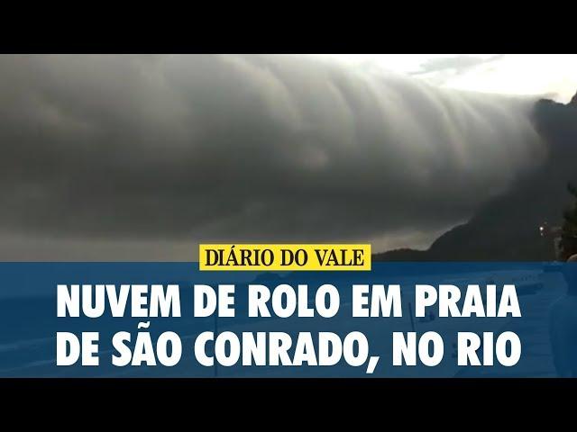 Nuvem de rolo em praia de São Conrado, no Rio