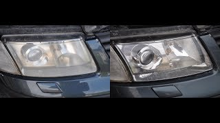 Восстановление и защита фар Volkswagen Passat B5 2000 г.в. с помощю лака Delta Kits Infiniti 4.1