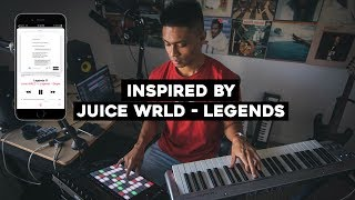 Making a beat inspired by Juice WRLD - LEGENDS
