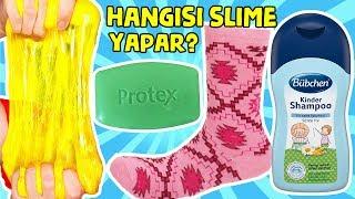 Çoraptan Ne Çıkarsa Pofuduk Slime Bebek Şampuanı vs Protex Sabun Köpük Slaym Challenge BidünyaOyunca