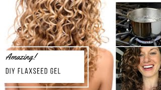 How to make flaxseed gel | Curly Girl Method