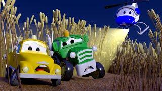 Patrol Policyjny - Kombajn Harvey i ukryte dzieciaczki - Miasto Samochodów 🚓 🚒 Bajki Dla Dzieci